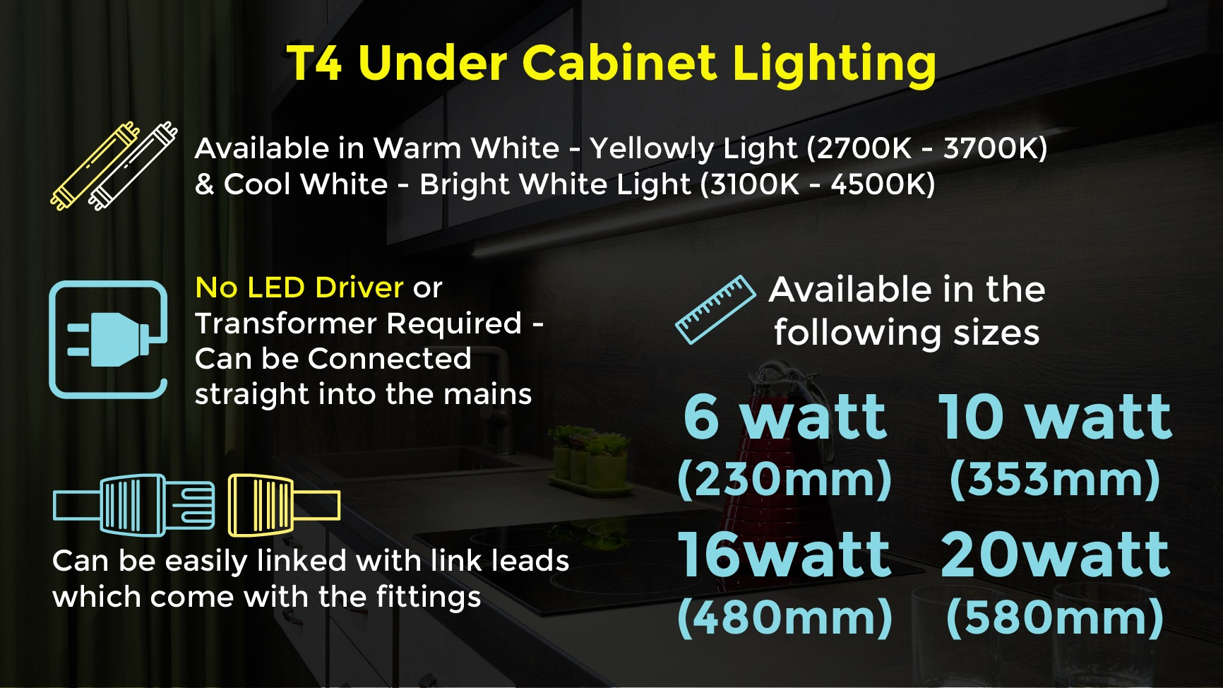 T4 Under Cabinet Lighting